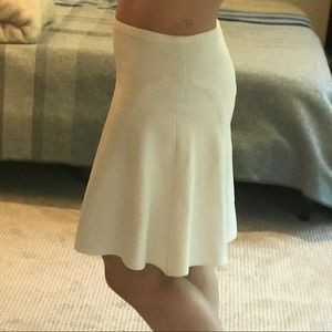 DVF a-line skirt, white. Spandex blend fabric.